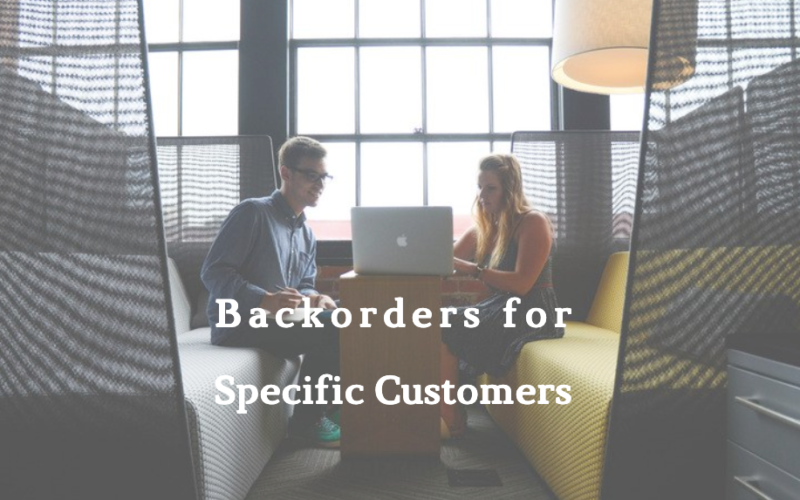 Magento 2: How to allow product backorders to specific customers?